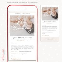 Now booking email template photographers