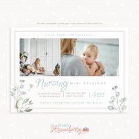 Nursing breastfeeding mini sessions template