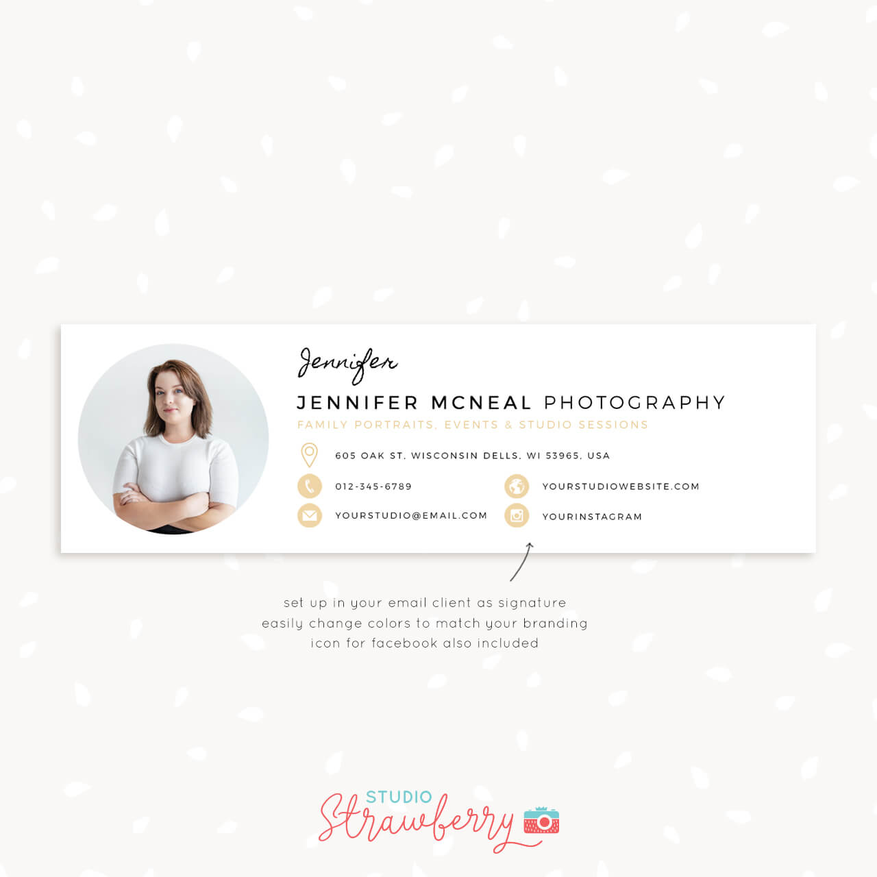 Email Signature Template For Photographers Strawberry Kit
