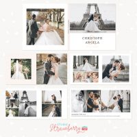 Wedding Album 12 inch Photoshop Template