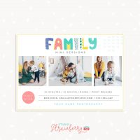Family mini sessions template