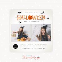 Halloween mini sessions template