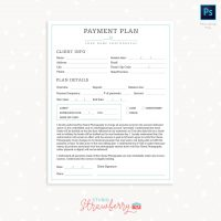 Payment Plan Photographer Template