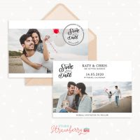 Save the date card photoshop template