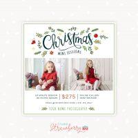 Christmas Mini Session Template Photographer