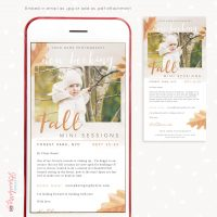Fall mini sessions email newsletter template
