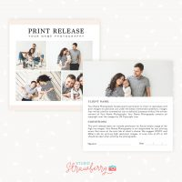 Print Release Card Template Photographer Photoshop