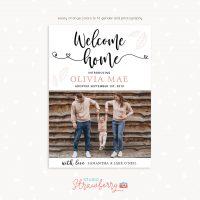 Adoption announcement card template Photoshop