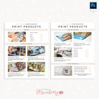 Photography Print Products Catalog Printable Template