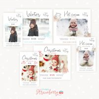 Winter Holidays Christmas Mini Sessions Template