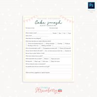 Cake Smash Questionnaire Sign up form template