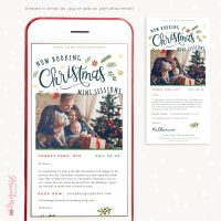 Christmas mini sessions email template