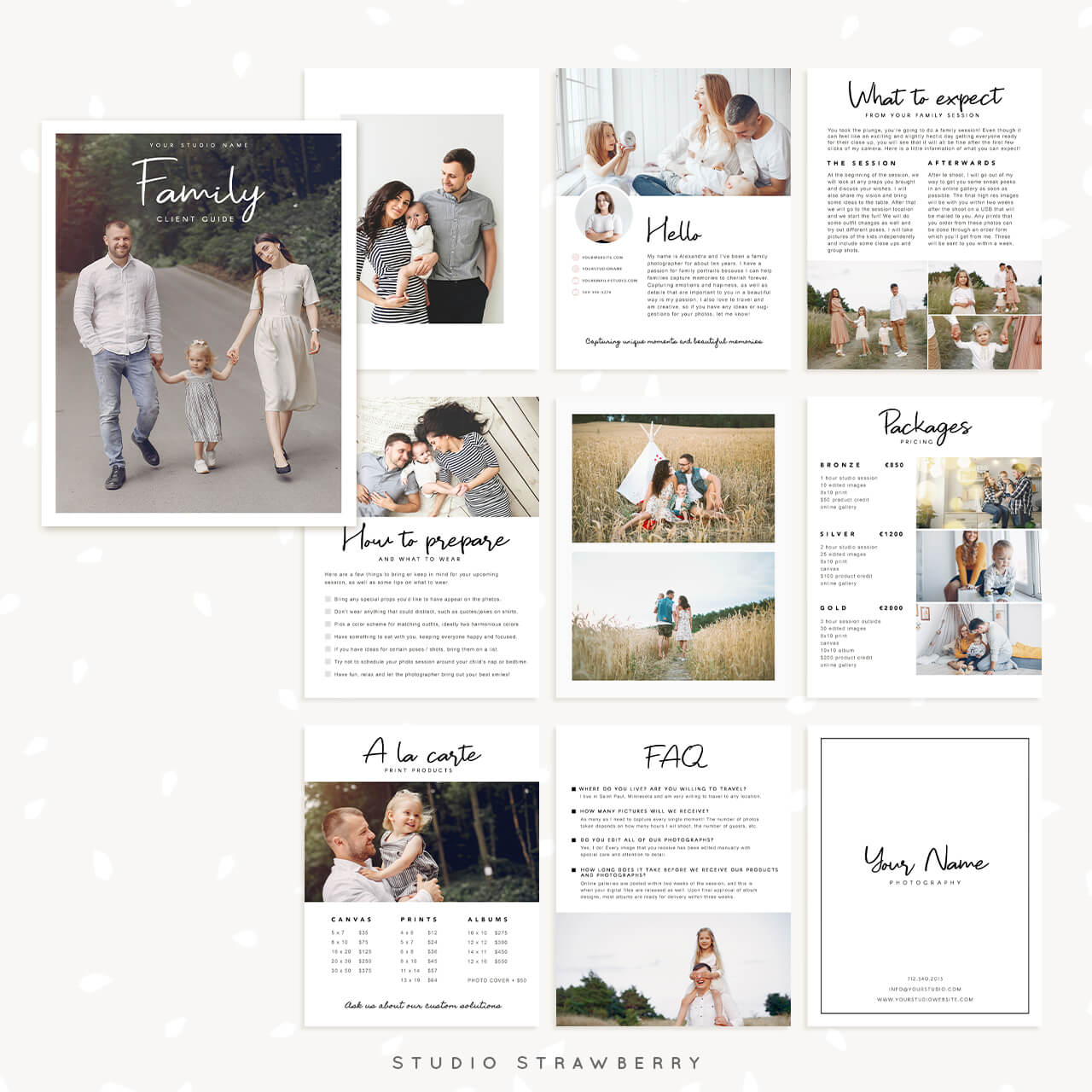Family Kids Photography Magazine Template