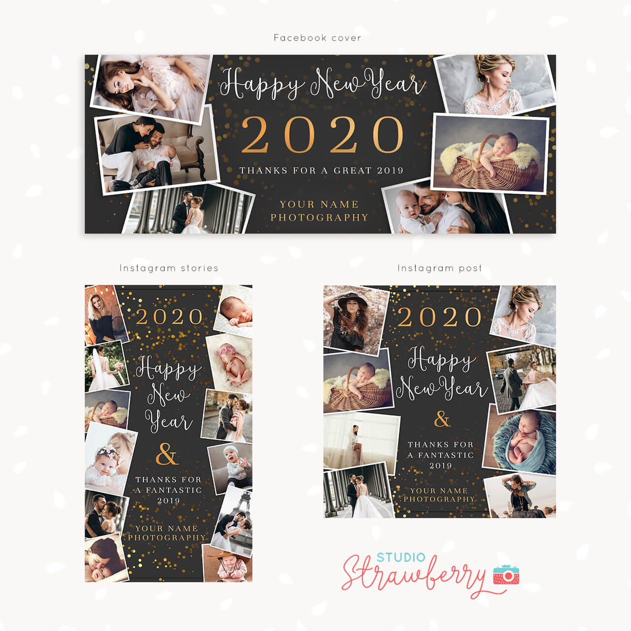 New Year Social Media Kit Templates