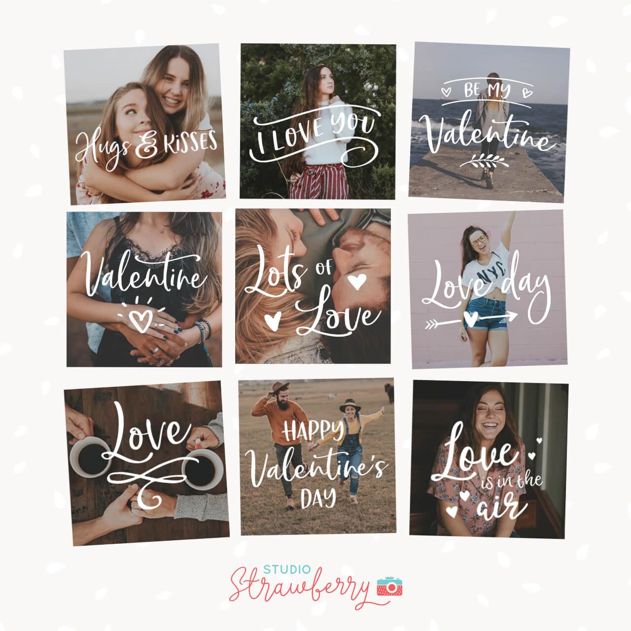 Valentine Photography Overlays